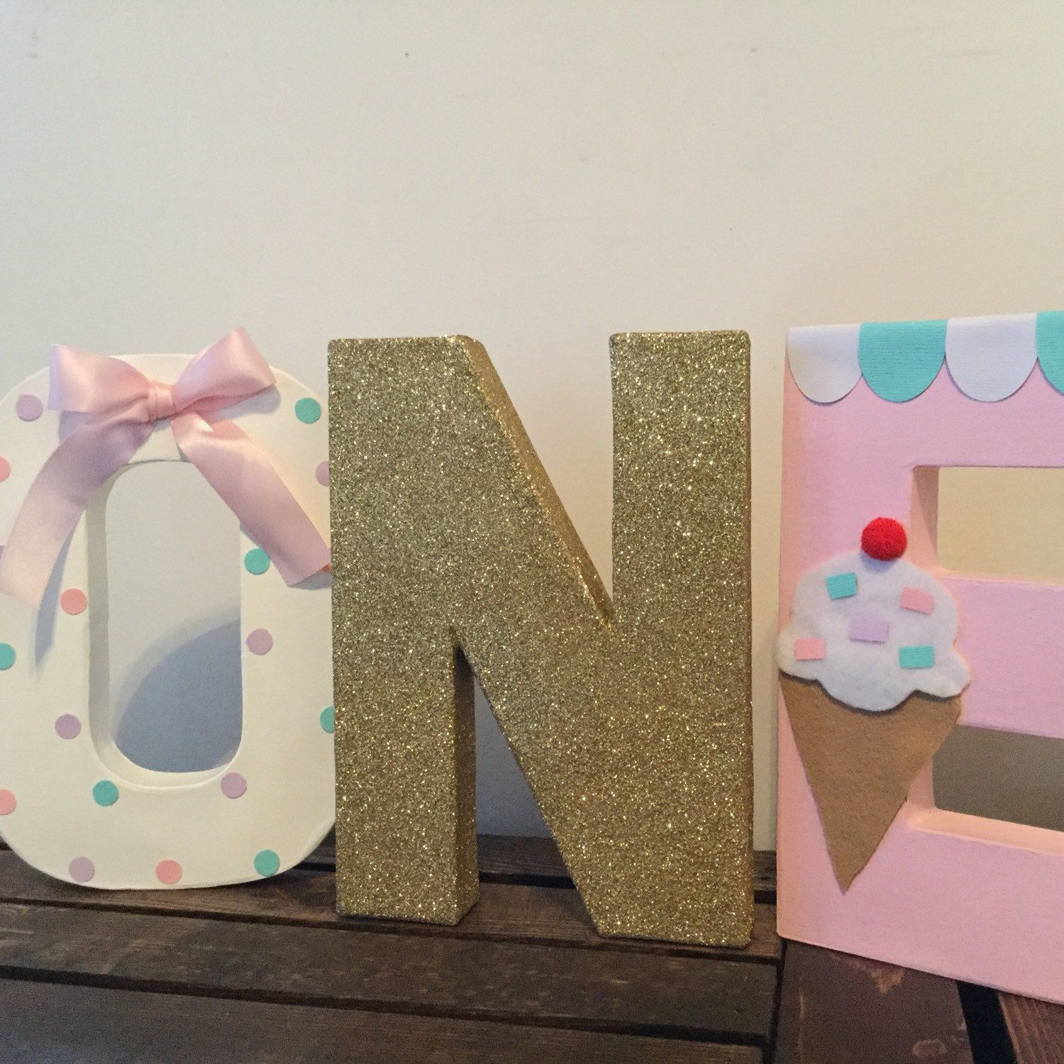 adorable ice cream letters great for your little one ice cream birthday party cake