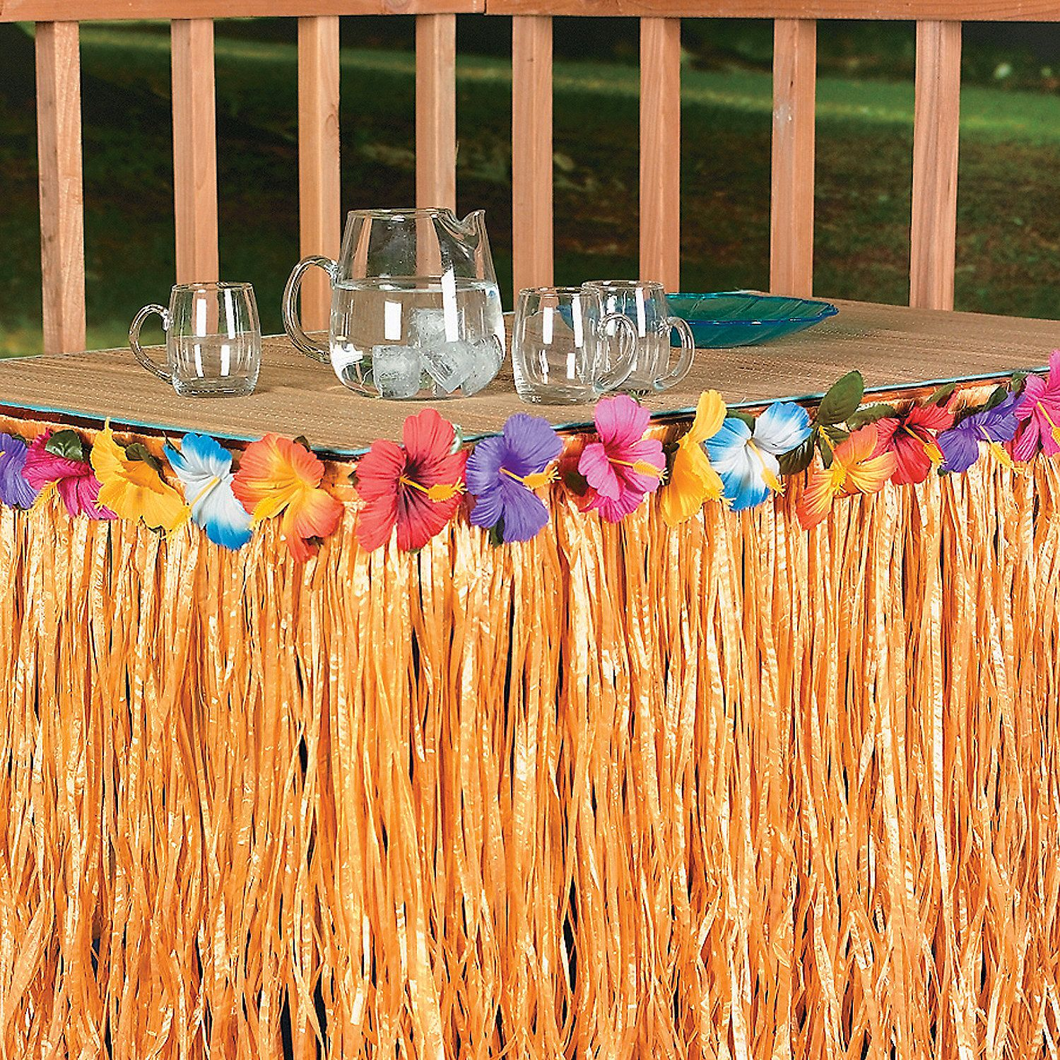 hibiscus table skirt