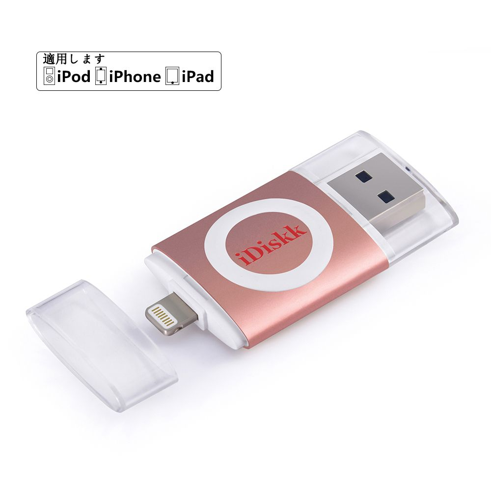 Idiskk Usb Flash Drive With Lightning Connector External Storage Memory For Iphone Ipad Ipod Mac Le Mfi Certified Gb Silver