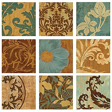 Flowered Patina Wall Art Jcpenney Glass Mosaic Diy Tile Crafts Handmade Ceramic Tiles