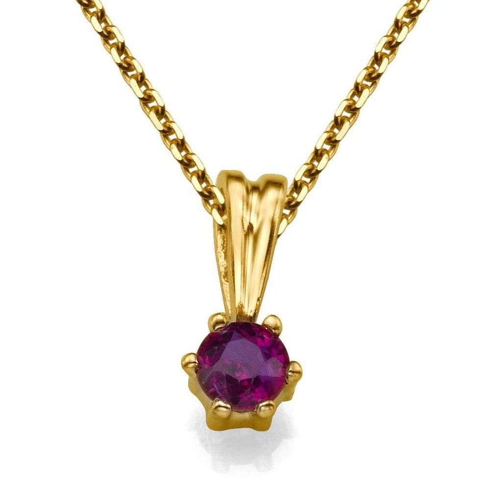 Solitaire pendant necklace k yellow gold pendant women gift