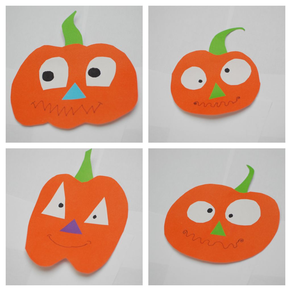 DIY Pumpkins From Construction Paper