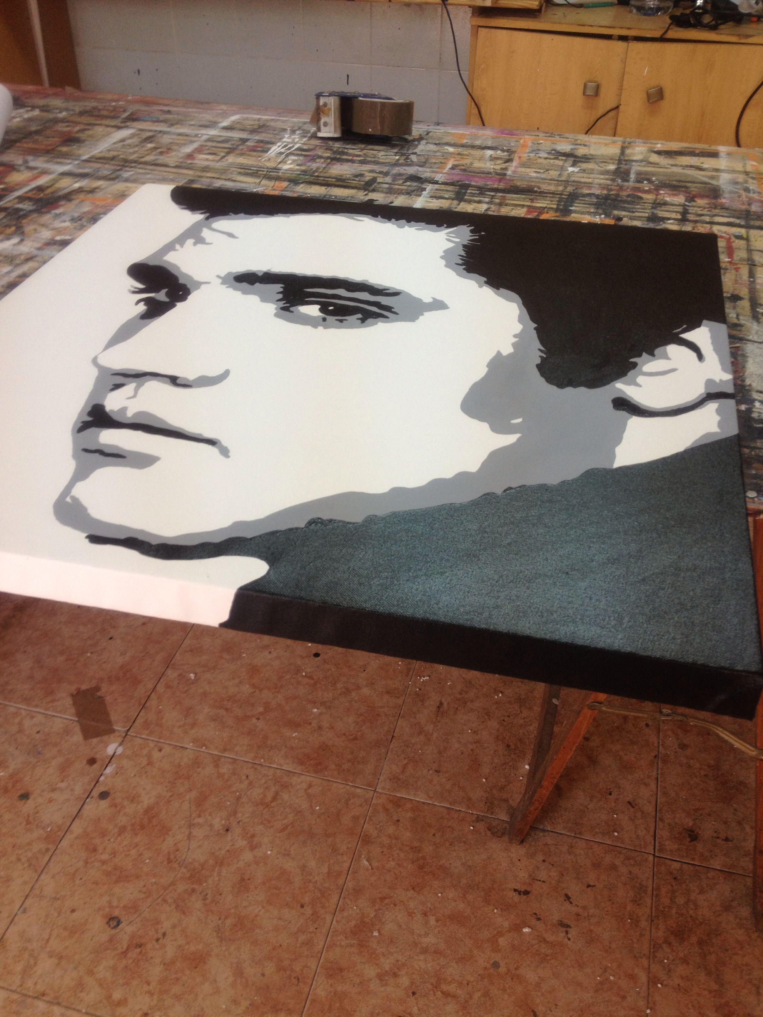 Cuadro pop art blanco y negro Elvis Presley pintado a mano 100% http ...