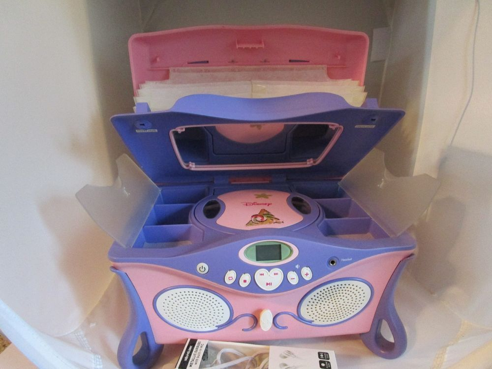 Adorable Disney Princess Jukebox CD Player and Jewelry Box Works
