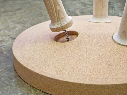 Awesome Gonçalo Campos Was Inspired By The Age Old Ritual And Tools Involved In  Uncorking Wine For Rolha, A Side Table With A Solid Cork Table Top. Gallery