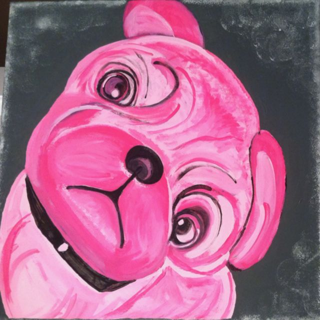 Painted by ME!...my Puggy Lola Mae :)
