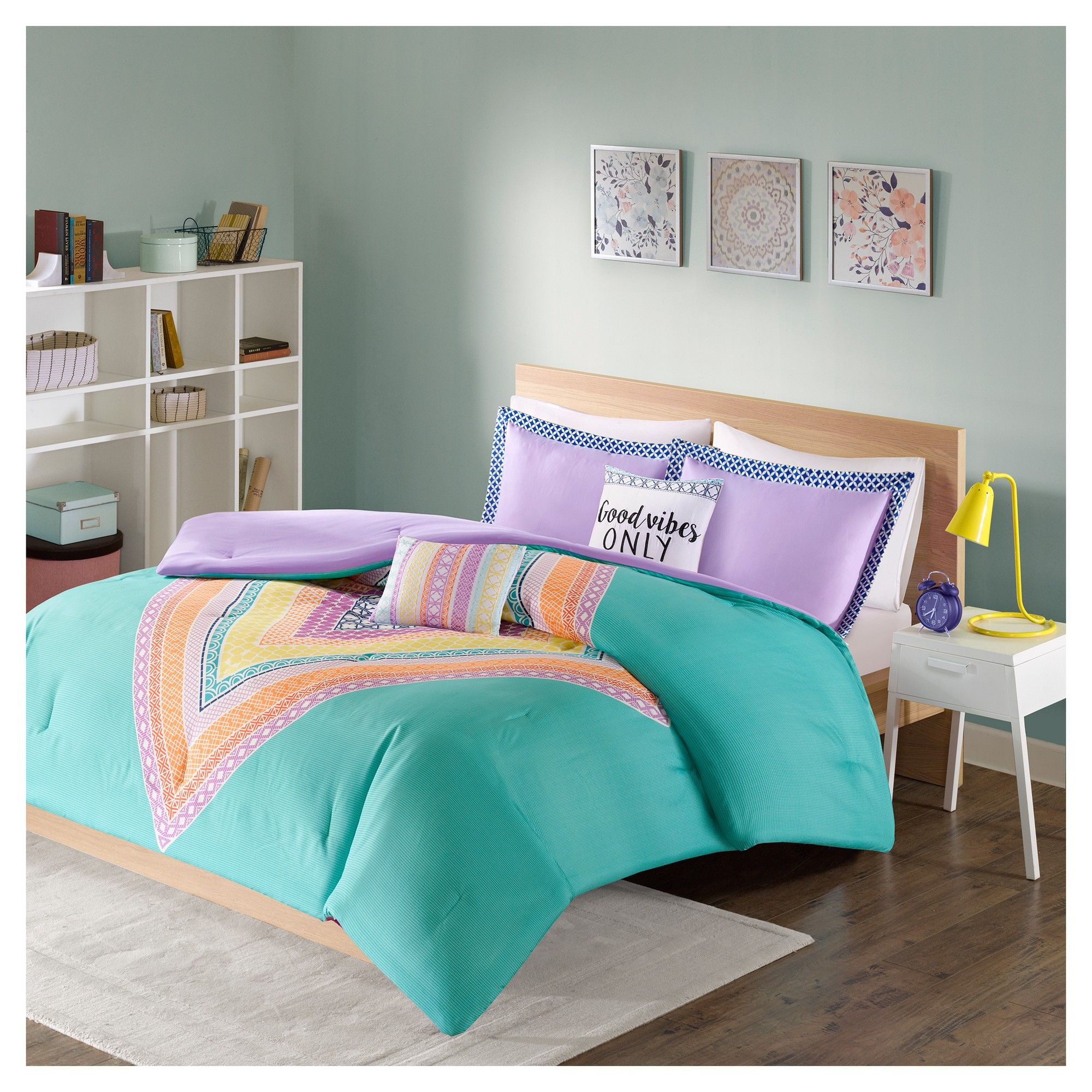 Aqua Blue Shay Comforter Set Twin Twin Xl Comforter Sets