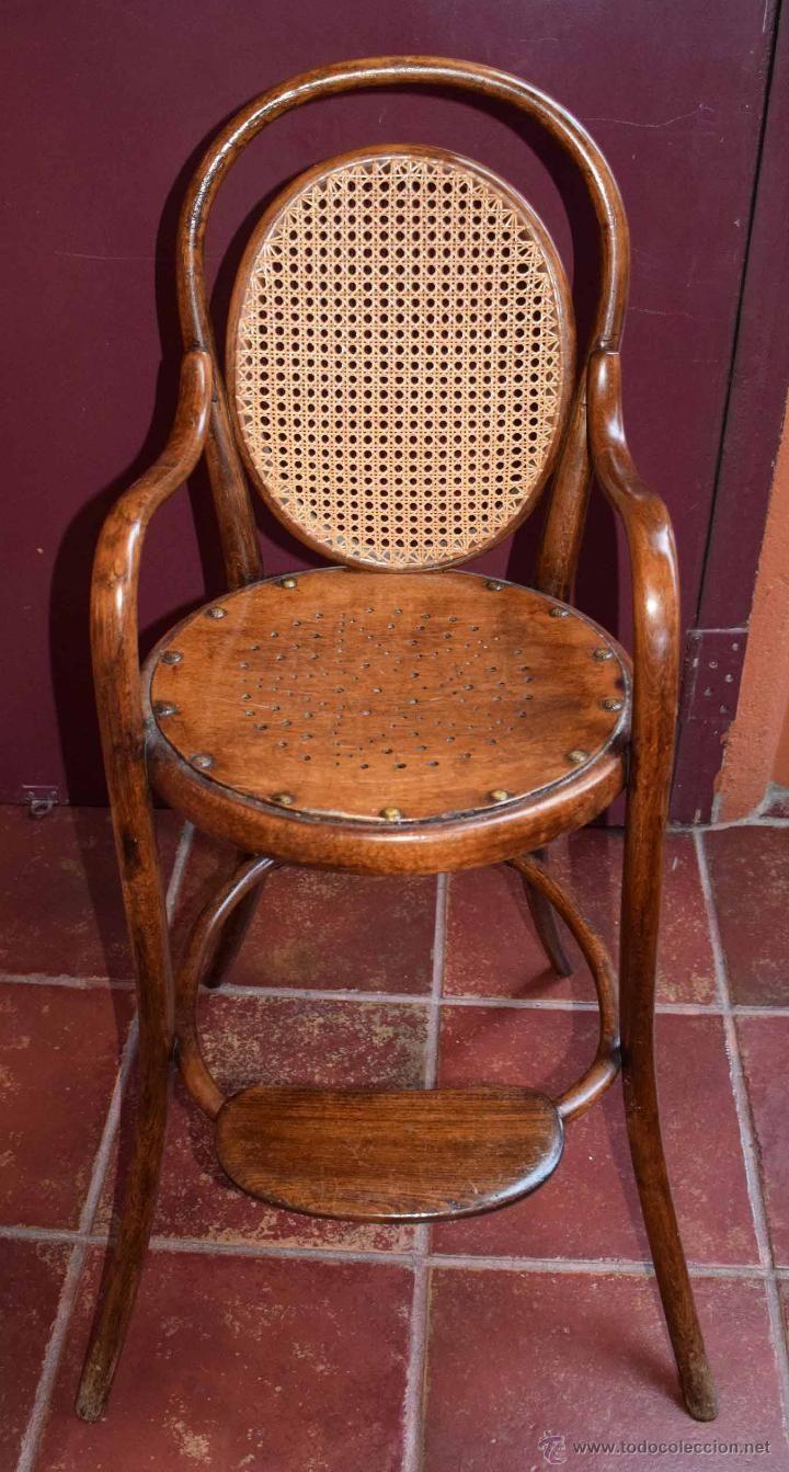Antigua Silla Trona Tonet Ni O Rejilla Artesania Impecalble  # Muebles Rejilla