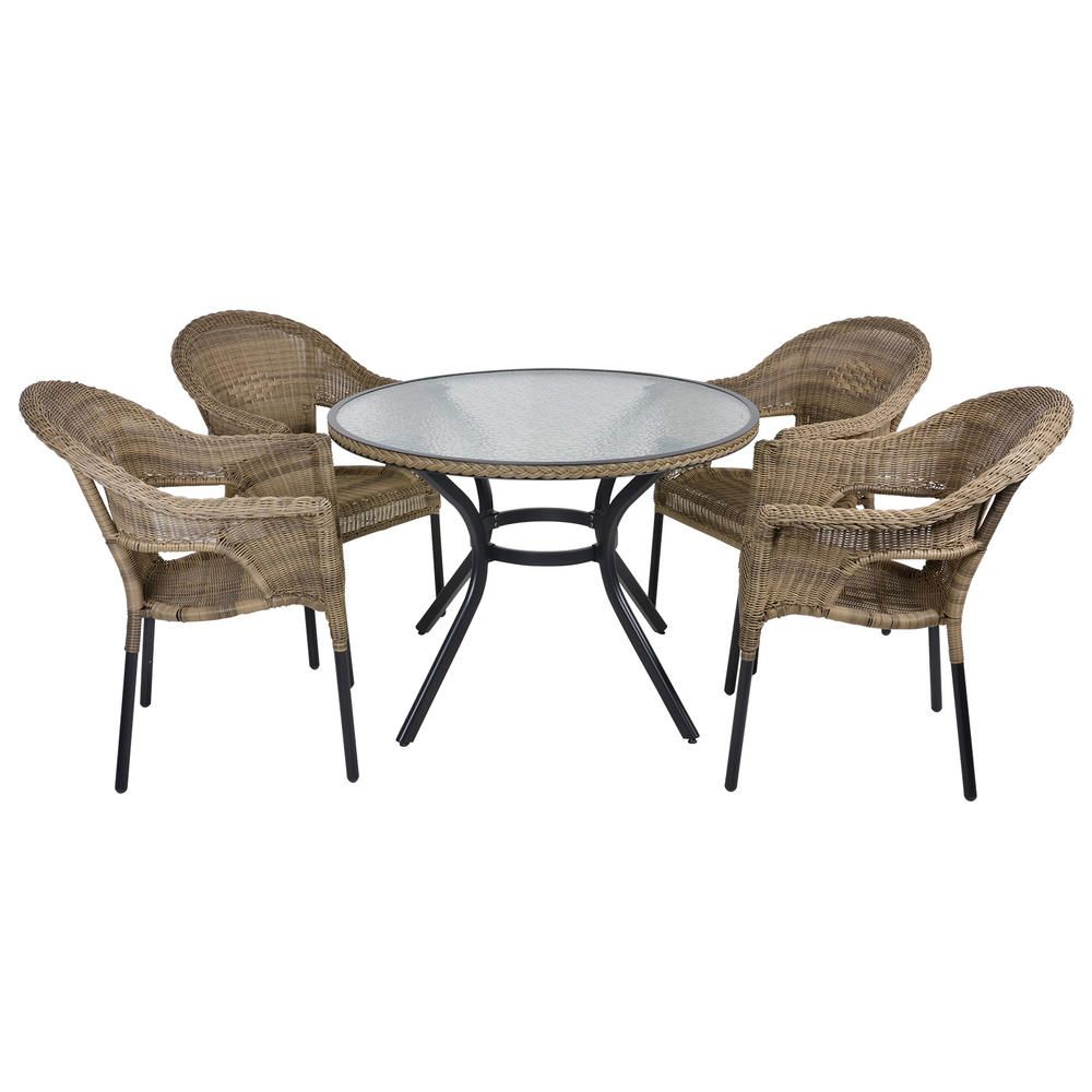 cayman 4 seat aluminium garden furniture chair table set - Rattan Garden Furniture 4 Seater