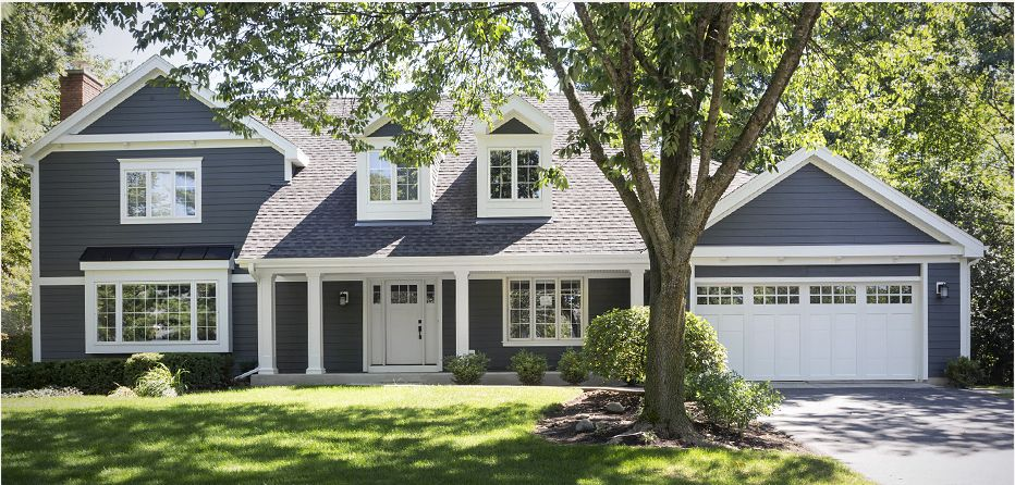 Iron gray windows and siding renovation pinterest for Examples of exterior house color combinations