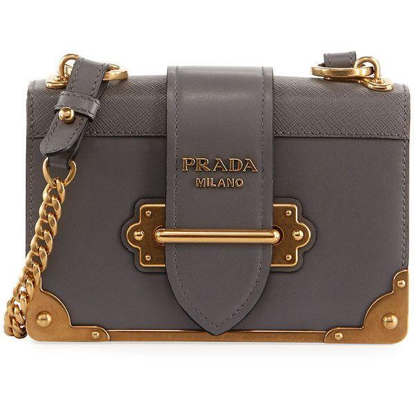 c1d792041c06 Prada Cahier Small Leather Trunk Crossbody Bag ( 2
