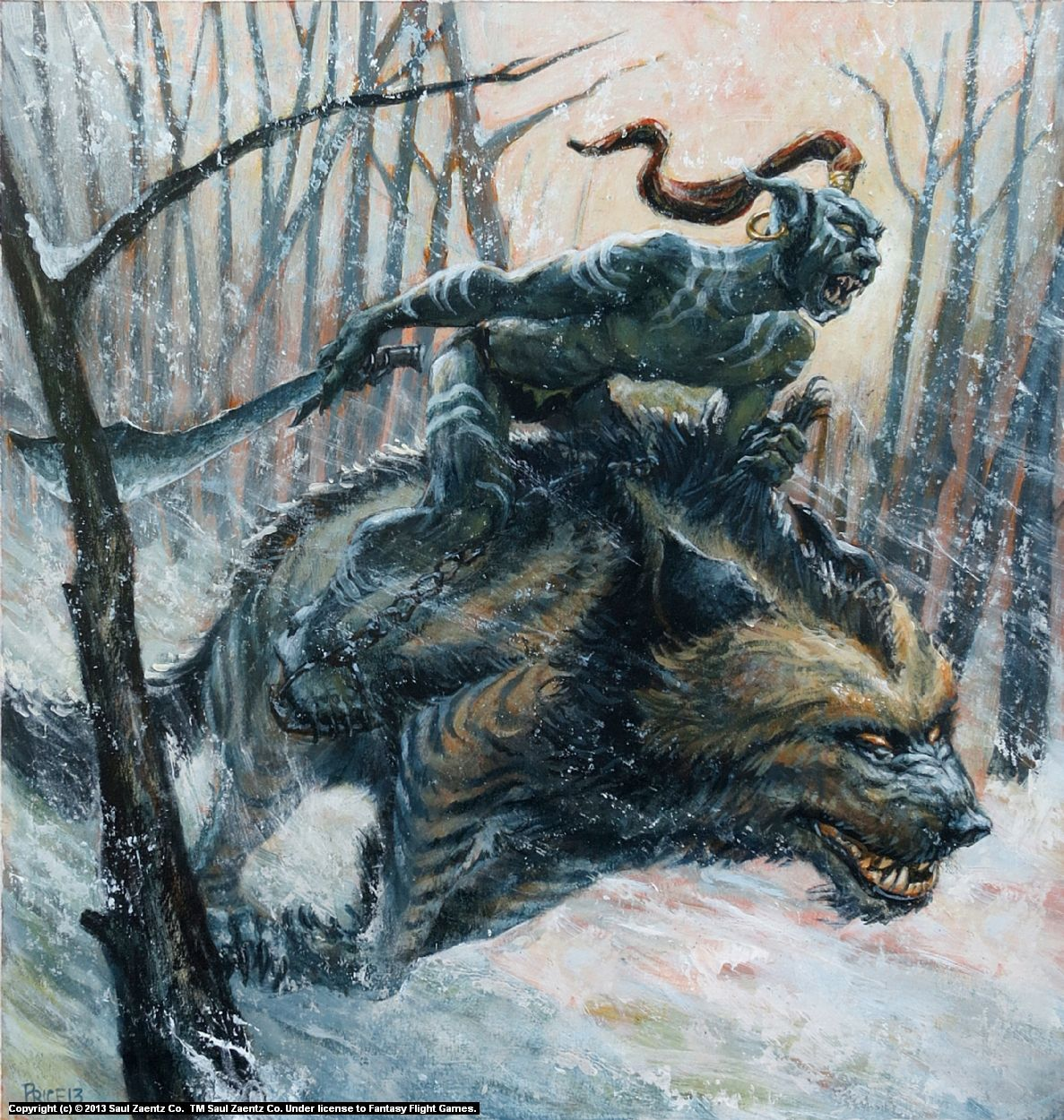 Infected By Art » Warg Rider by rick price » Infected By ... Warg Riders Drawings