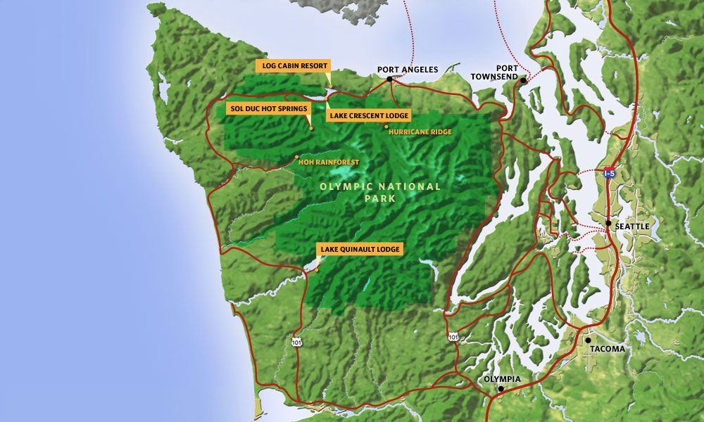 Lake Crescent Lodge And Olympic National Park Our Former Home: Map Of Olympic Peninsula Washington State At Codeve.org