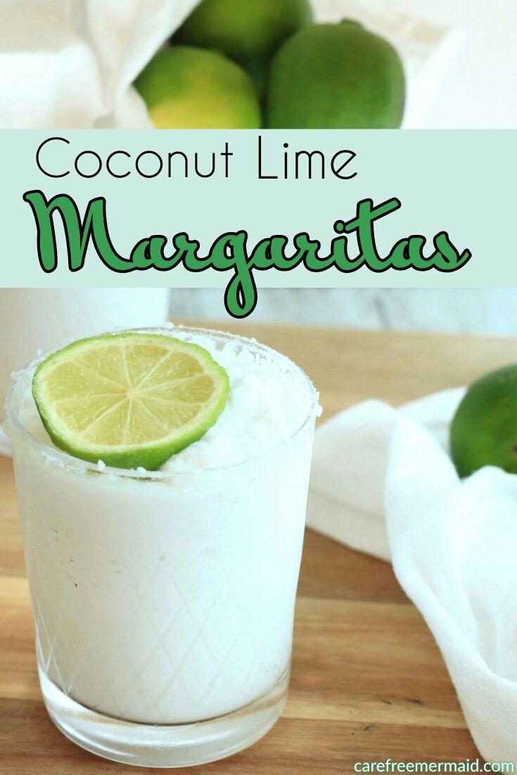 Coconut Lime Margaritas - Carefree Mermaid