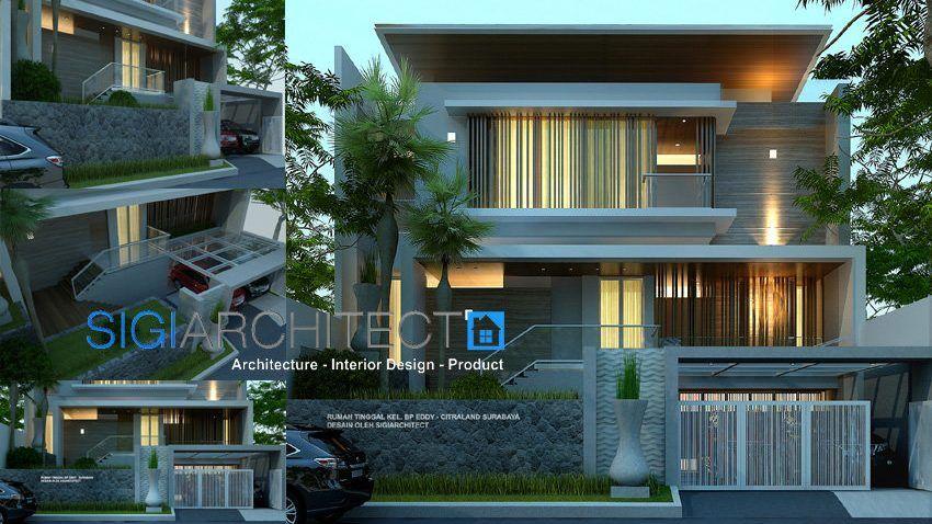 Desain Foyer Minimalis : Desain rumah modern minimalis lantai sigiarchitect