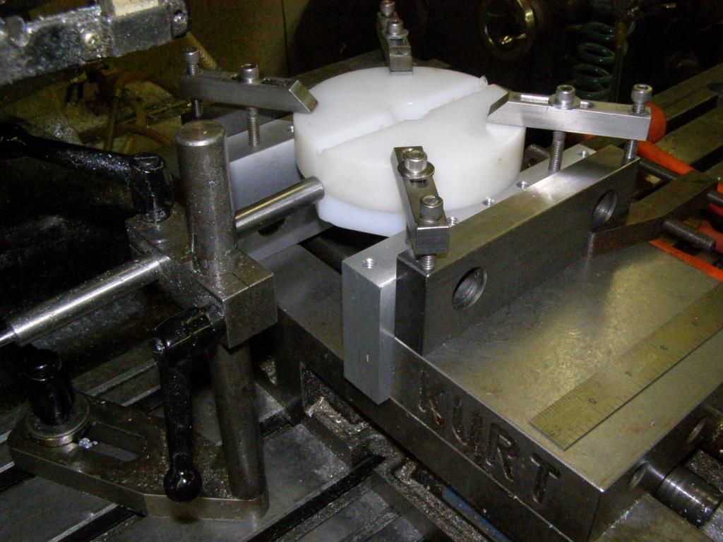 Soft Jaws For Bench Vise Part - 38: Milling The Vise Aluminum Soft Jaws With Threaded Hold-down Holes (setup  Also Requires