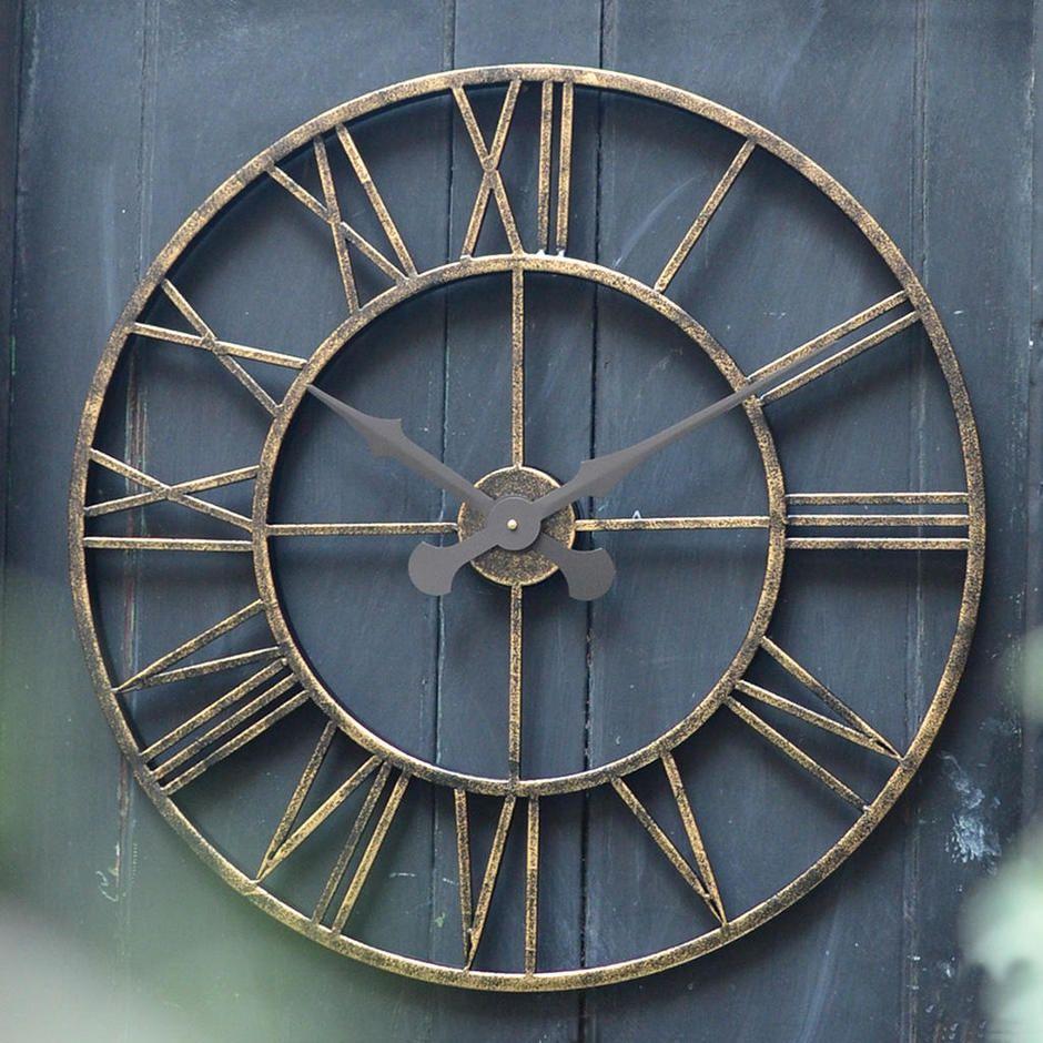 Extra Large 70cm Vintage Clock Large Outdoor Clock Vintage Clock Garden Clocks