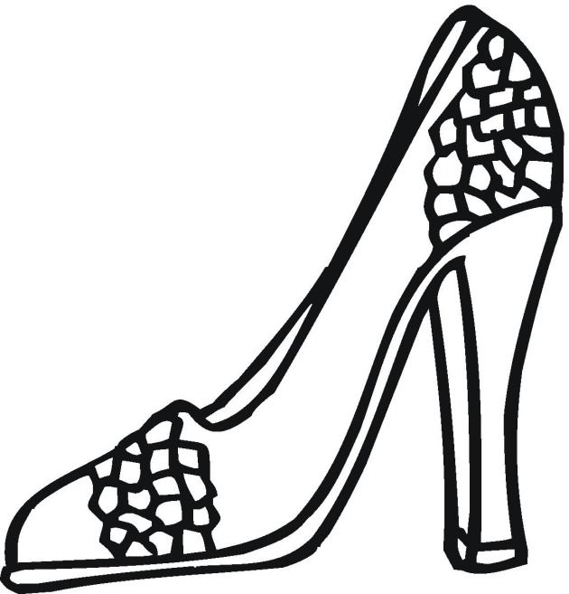 Free Fashion Beauty Coloring Pages Shoe Template Coloring Pages