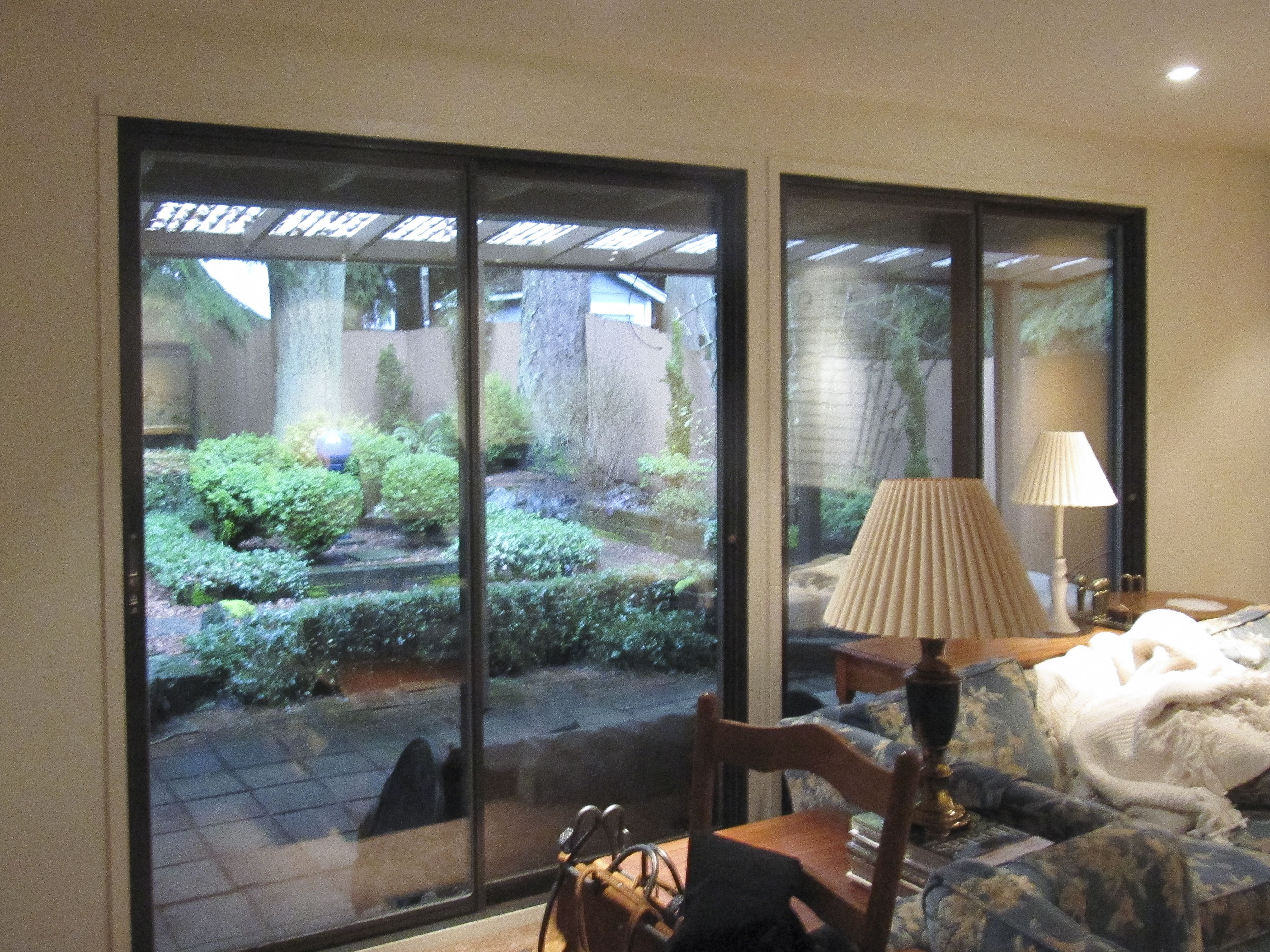 Sliding glass doors before simple family room face lift with new sliding glass doors before simple family room face lift with new lighting paint vg fir trim milgard tuscany sliding glass doors and a dramatic field planetlyrics Choice Image