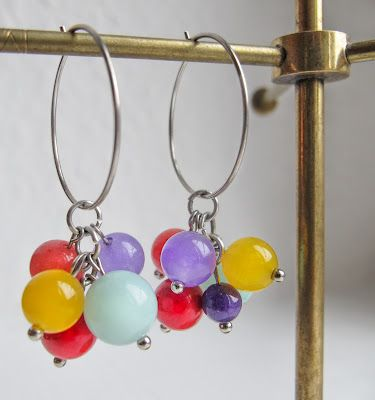 Colorful earrings, perfect for a simple outfit