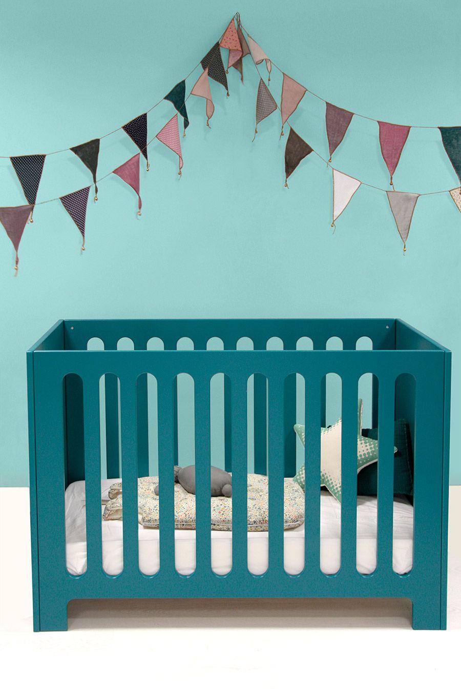 Lit bébé Diabolo   Couleur bleu canard, Lit bebe et Bleu canard