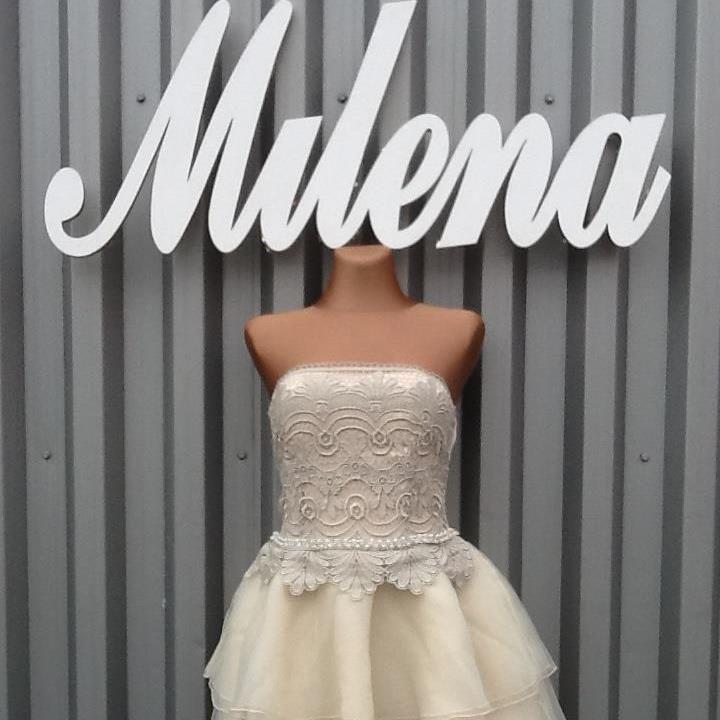 Sliczna Krotka Suknia Slubna Druhna Slub Cywilny Bride Short Dresses Dresses