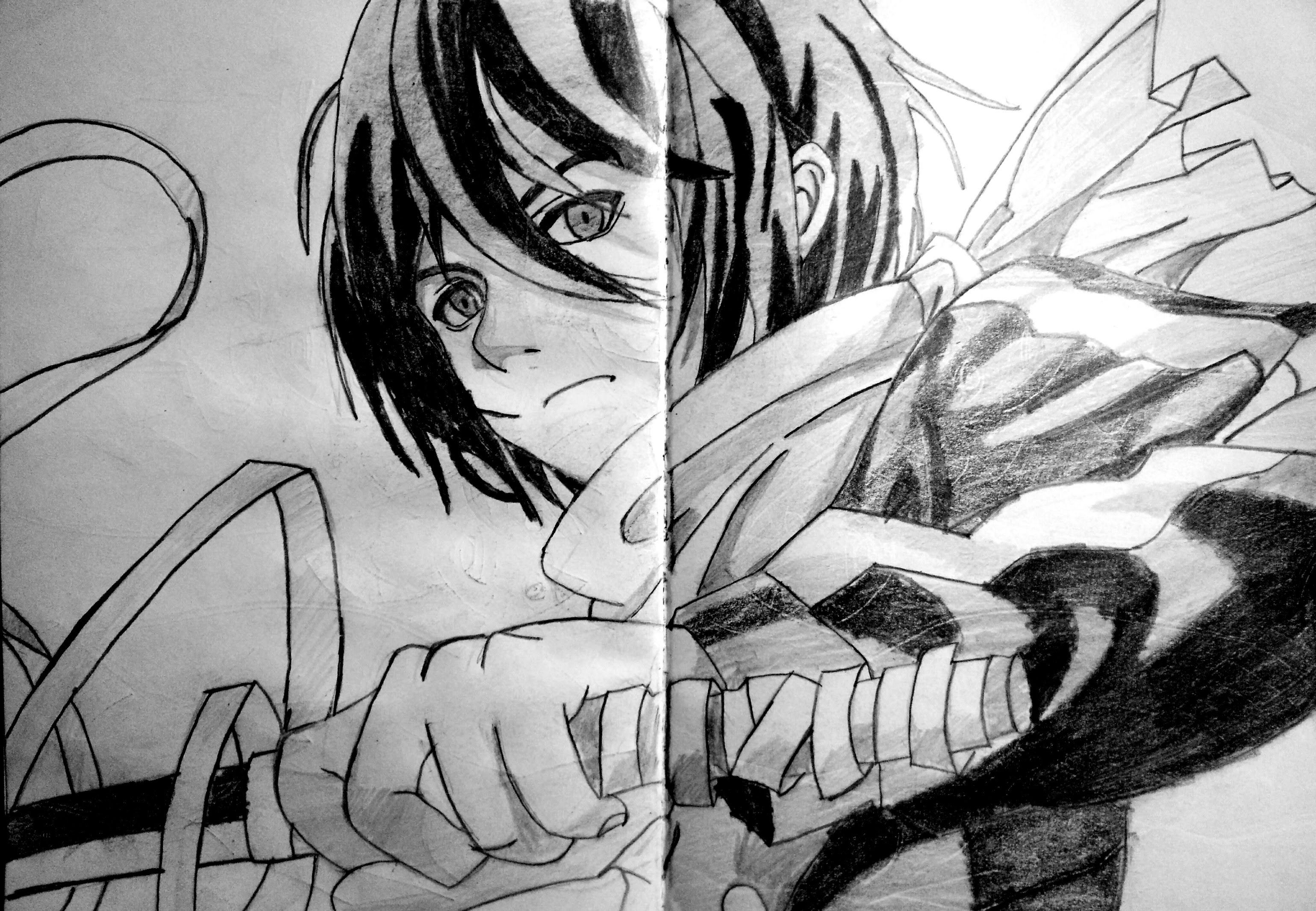 Speed drawing anime Yato (Noragami) Drawings, Yato