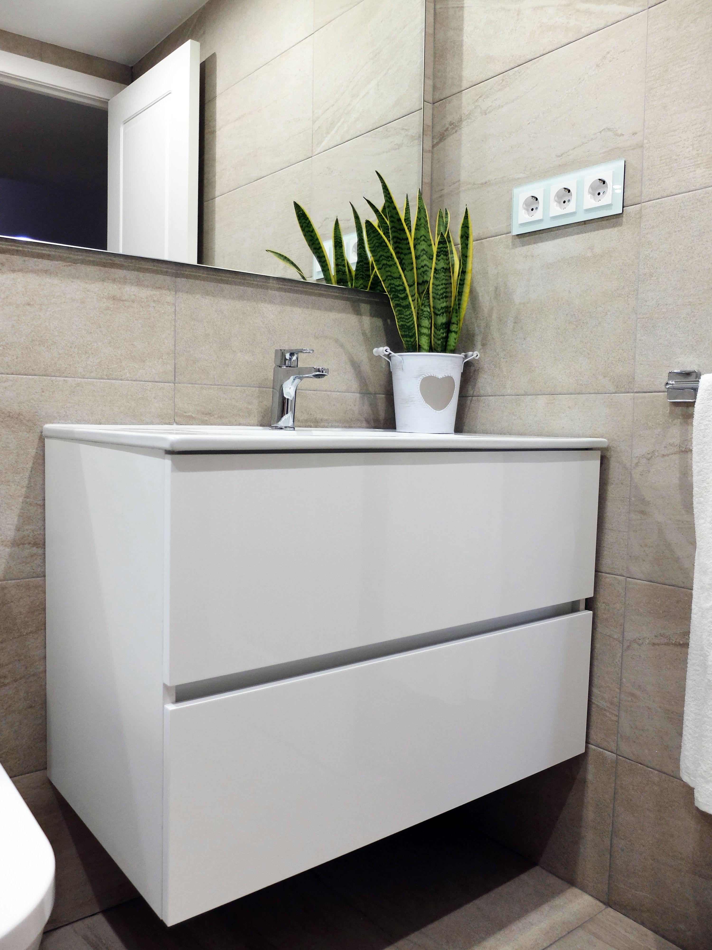 Reforma de baño en beige y blanco en Sarrià, Barcelona ...
