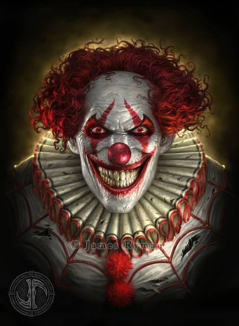 Evil Clown By James Ryman Clown Paintings Evil Clowns Clown Horror