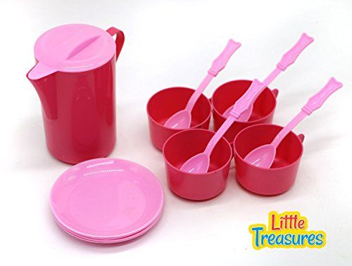 Play Kitchen Dishes little treasures kid play dishes pretend play kitchen tea playset