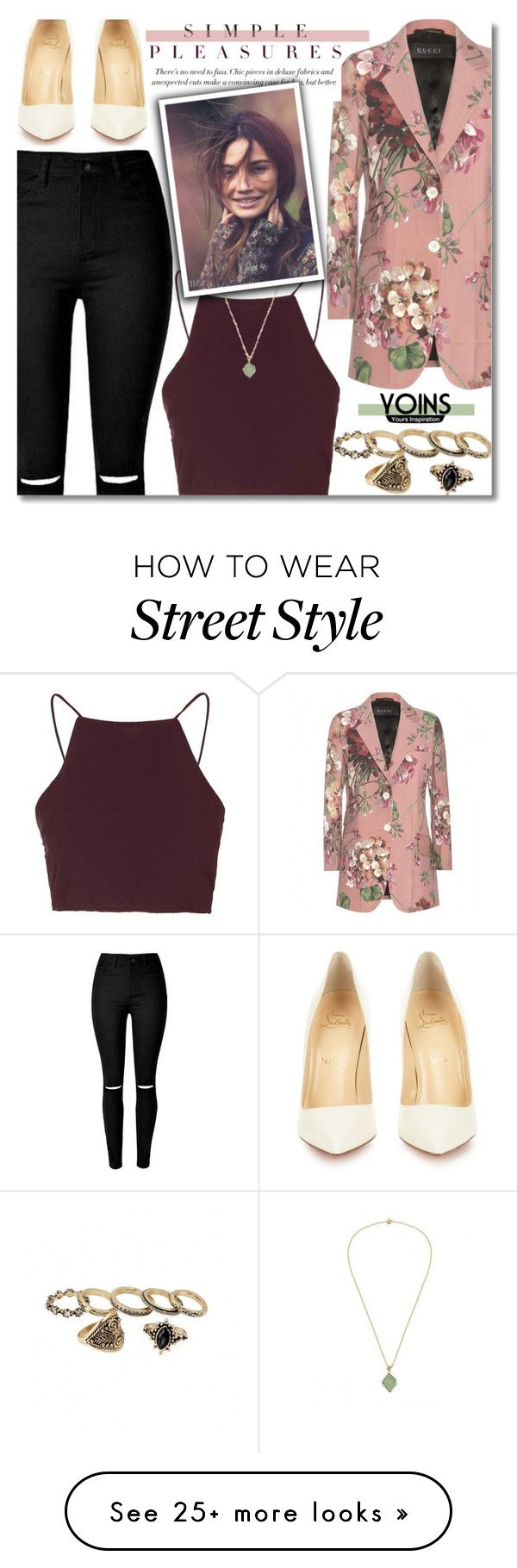 """""""~Yoins IX~"""" by amethyst0818 on Polyvore featuring Gucci, Topshop, Christian Louboutin, women's clothing, women, female, woman, misses and juniors"""