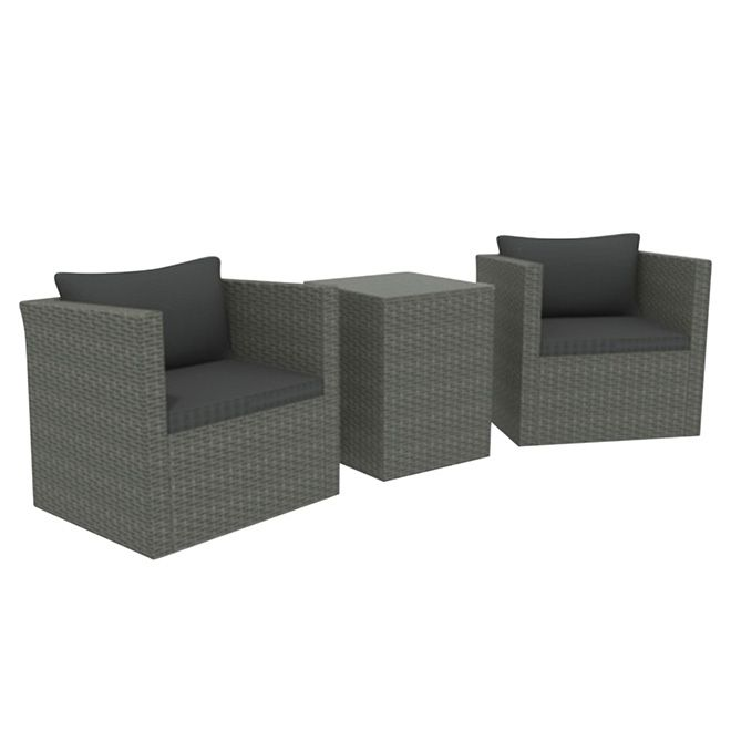 Luxembourg Bistro Set Grey 3 Pieces Bistro Set Bistro Sit