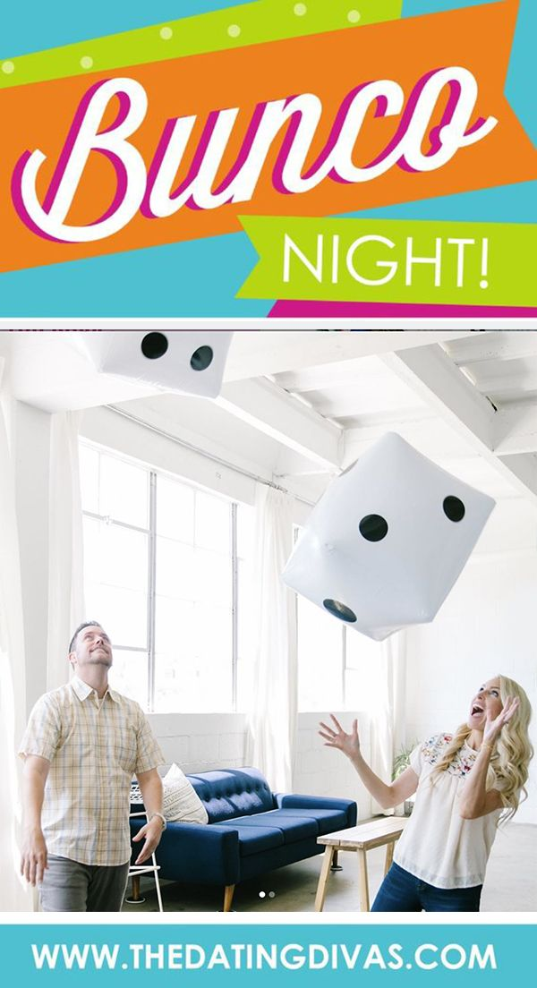 Bunco Game Night Free printables to host your own Bunco Game Night!