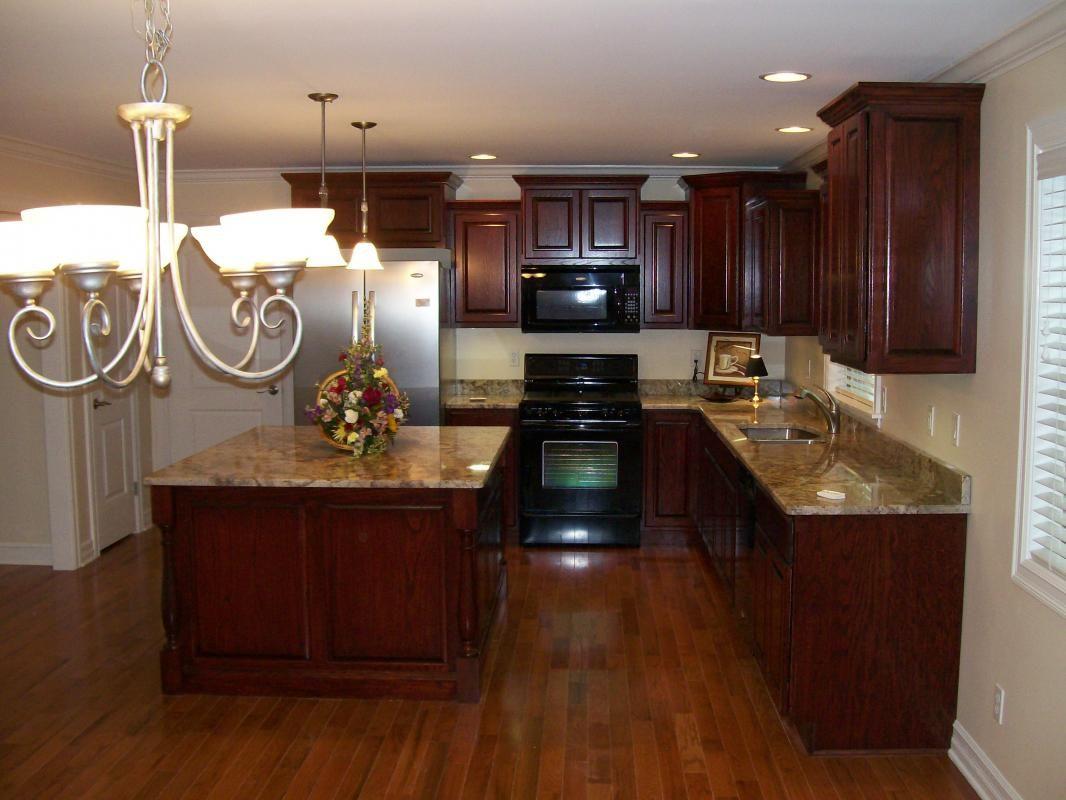 Dark Mahogany Kitchen Cabinets | Kitchen | Pinterest