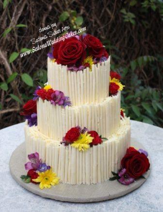 Hand rolled Chocolate Cigarette Wedding Cake