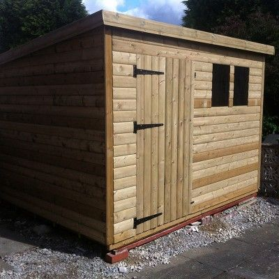 Id Pent 1d 10 X 6 Pent Shed Shed Chic Shop Outdoor Structures