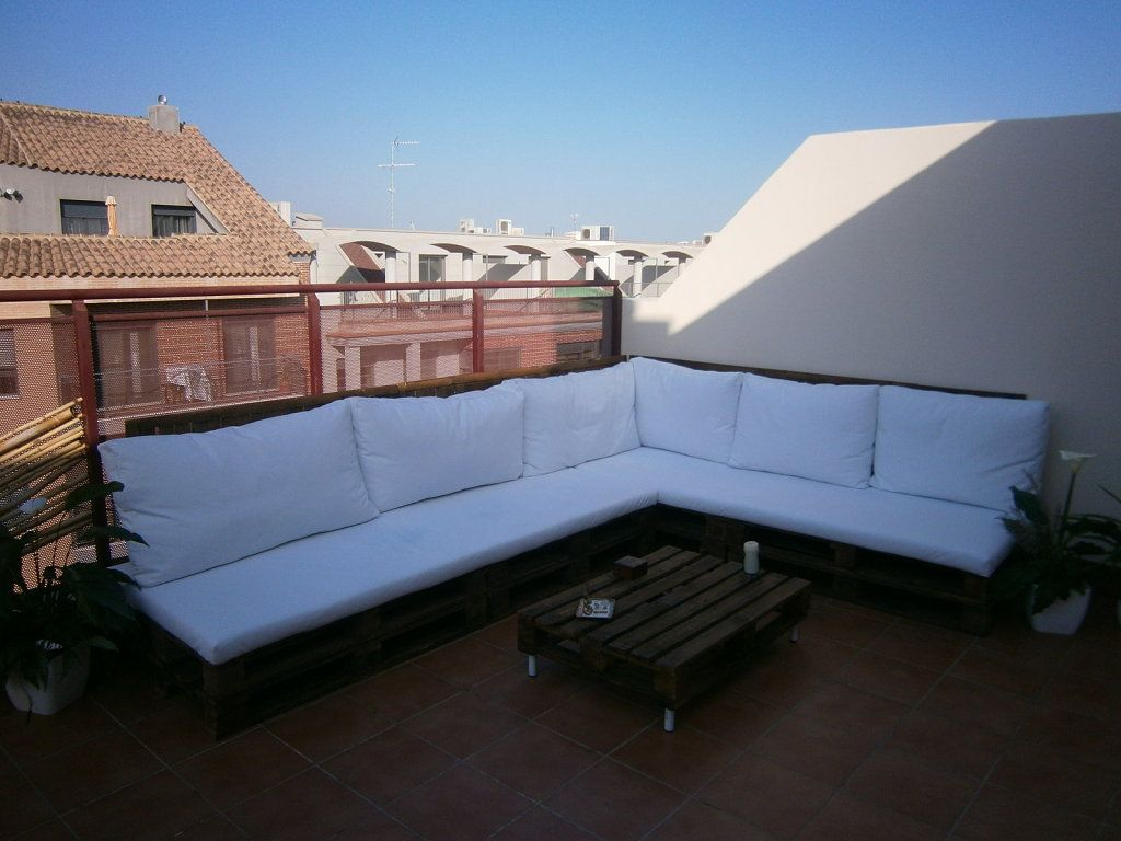 Terraza chill out con palets f cil y barato todo - Chill out terraza ...