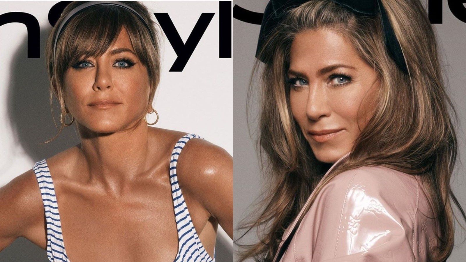 Jennifer Aniston S Dark Skin Color On Instyle October Beauty Cover Upsets Fans Jennifer Aniston Skin Color Dark Skin