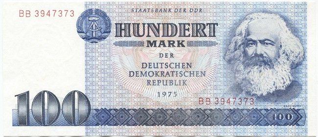 100 Mark der DDR 1975 (Marx) Ddr, Ddr museum, Demokratisch