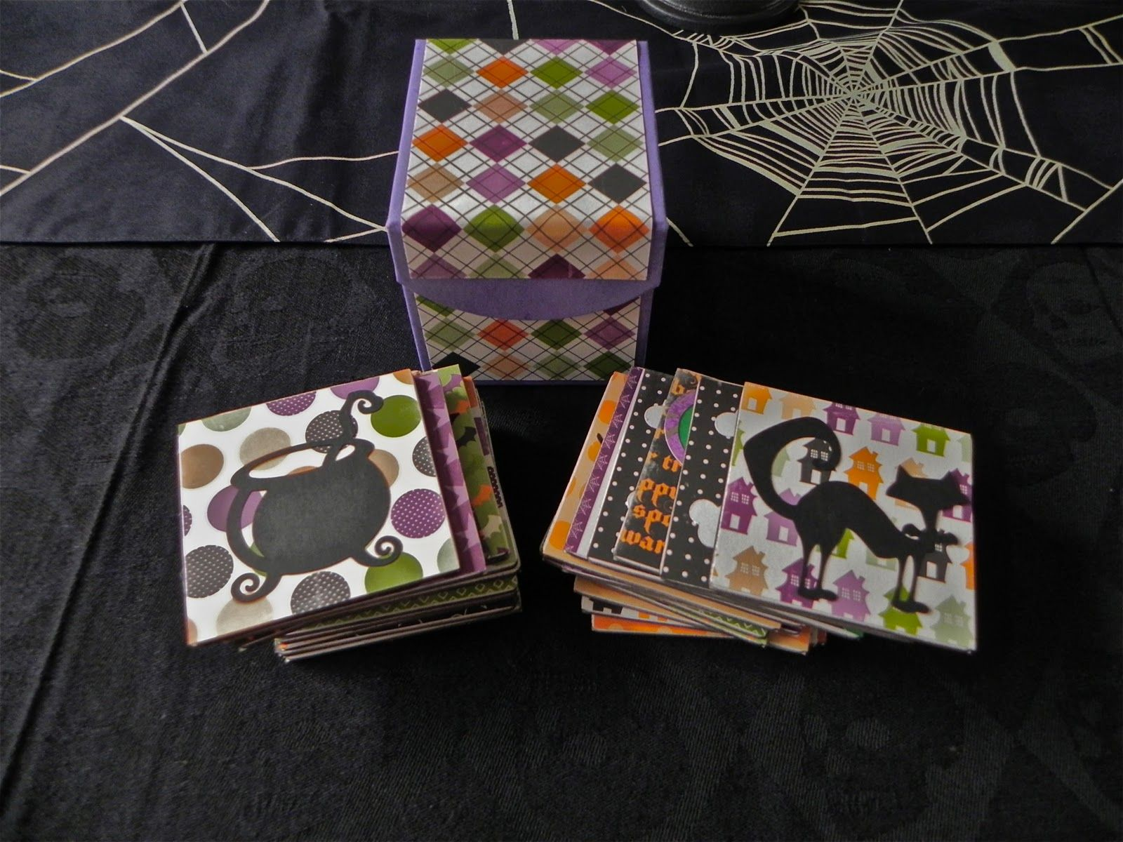 Halloween Memory Game Using Ctmh Memory Game Box