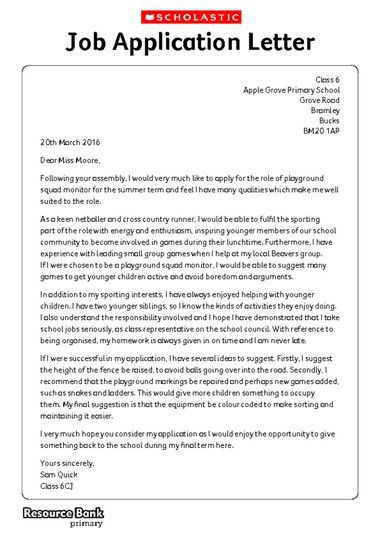 writing formally example application letter free primary job - format of application for admission in school