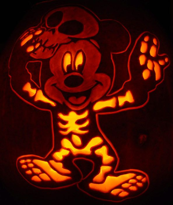 9 free printable stencils for foolproof pumpkin carving for Mickey mouse vampire pumpkin template