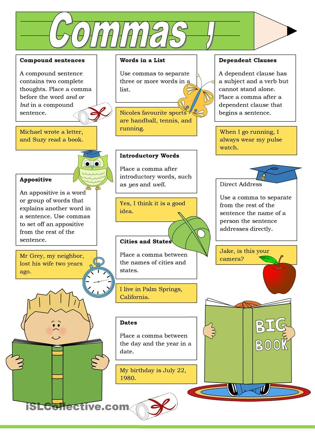 Poster: Commas | Projects to Try | Pinterest