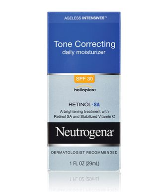 Neutrogena Ageless Intensives Tone Correcting Daily Moisturizer SPF 30. Only 3 weeks into using but love this moderate priced moisturizer. Love that it is also available with a tint, wish it came in a larger size! If this continues to work as promised may have to leave Dermalogica! $18.99