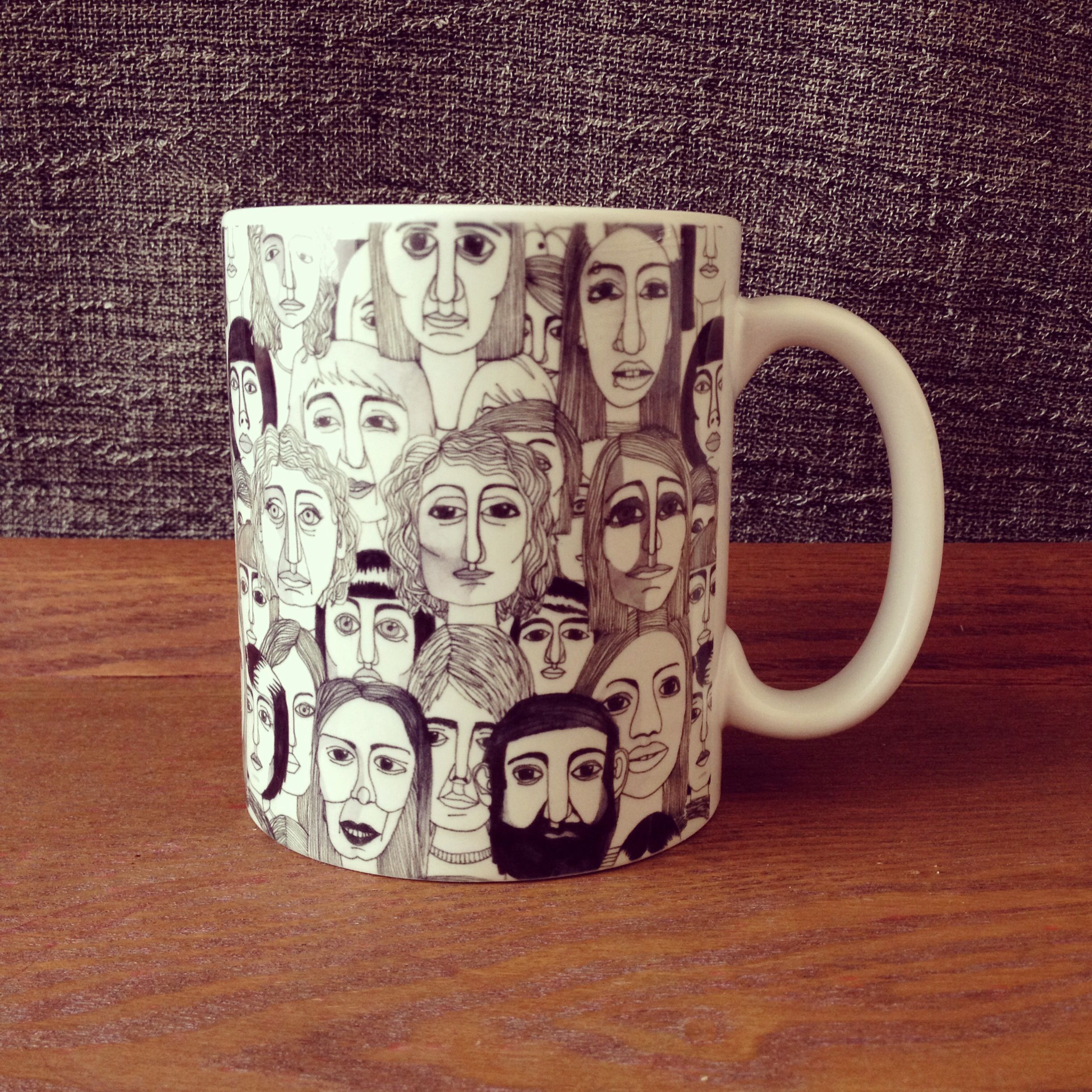 """Faces in the Tube"" pattern by Marina Molares #mug available at @Society6"