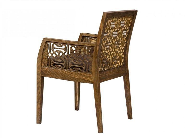Cizeta Sedie ~ Cadeira de madeira com braços ottoman by mobi madeira and ottomans