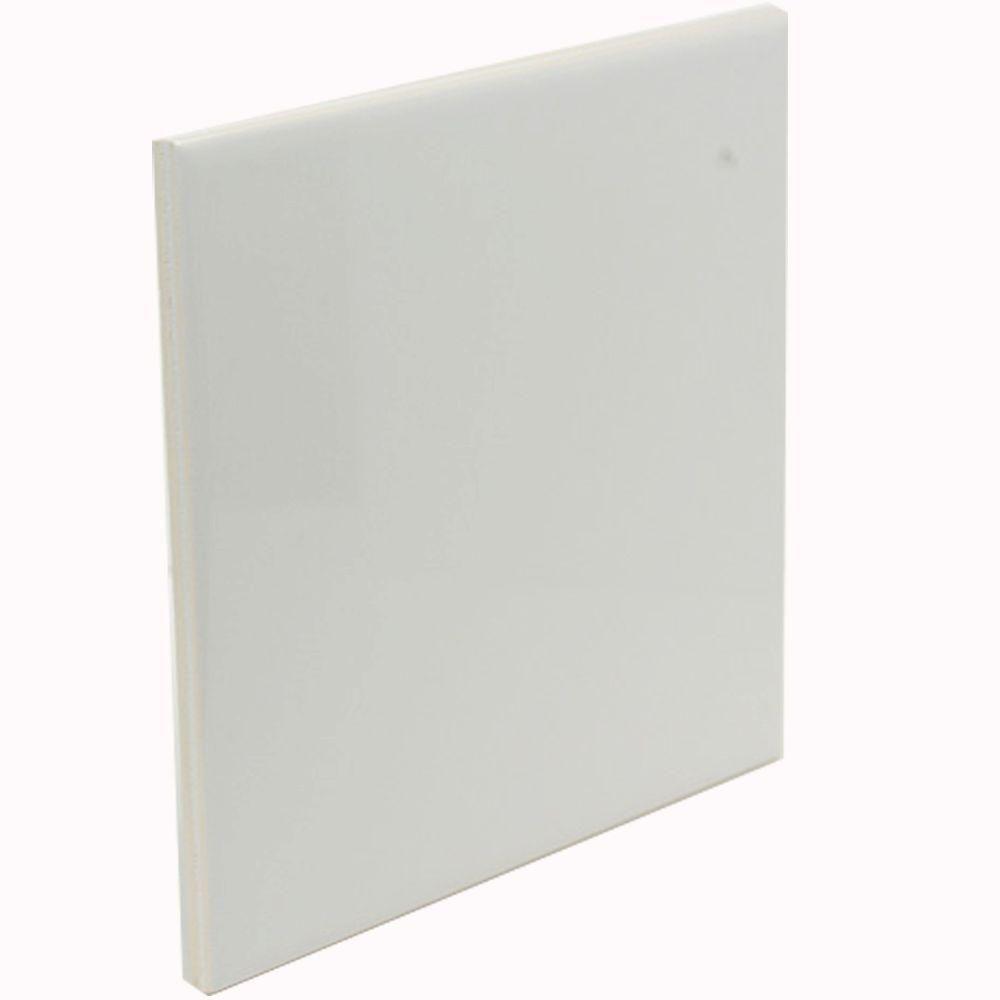 U S Ceramic Tile Color Collection Bright Snow White 6 In X
