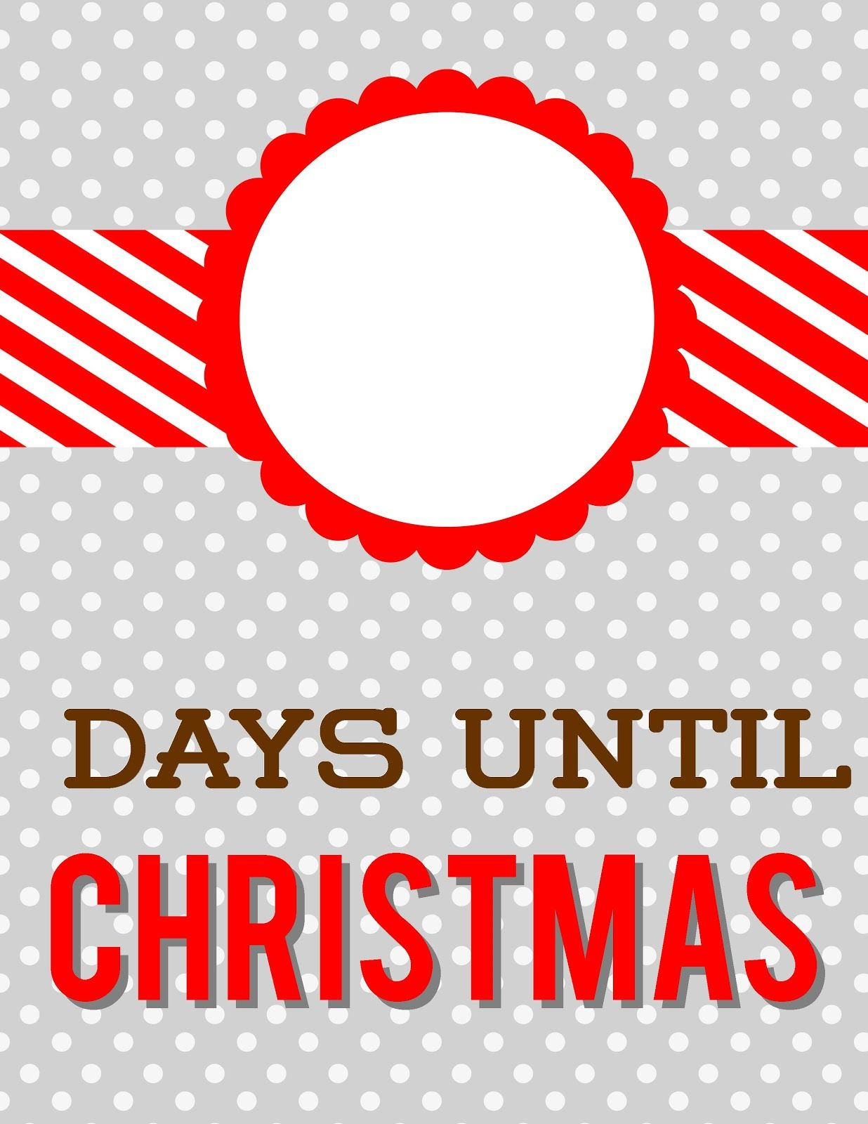 Days Until Christmas Dry-Erase Countdown with Free Printable ...