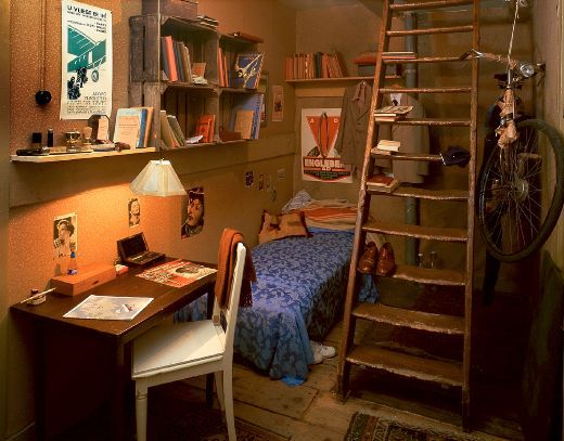 The Moveable Bookcase Which Conceals The Door To The Secret Annex Anne Frank House Anne Frank Attic Rooms