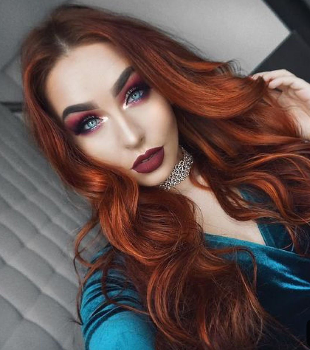 Intense copper   Hair color, Red hair makeup, Red hair